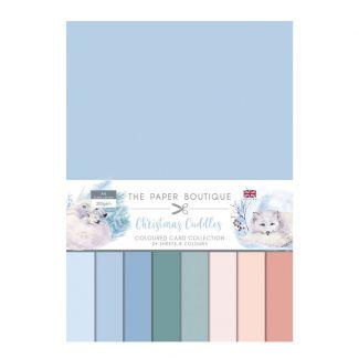 The Paper Boutique Christmas Cuddles Colour Card Collection (24 A4 sheets, 8 colour)