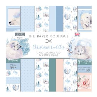 """The Paper Boutique Christmas Cuddles 12"""" x 12"""" Card Making Pad (36 sheets, 6 designs)"""