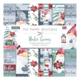 "The Paper Boutique Winter Gnomes 8"" x 8"" Embellishment Pad"