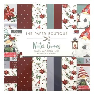 """The Paper Boutique Winter Gnomes 12"""" x 12"""" Card Making Pad"""