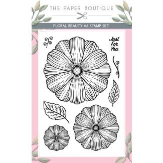 The Paper Boutique Floral Beauty A6 Stamp Set