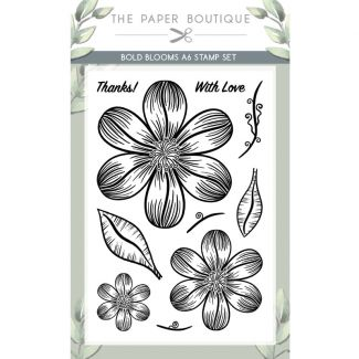 The Paper Boutique Bold Blooms A6 Stamp Set