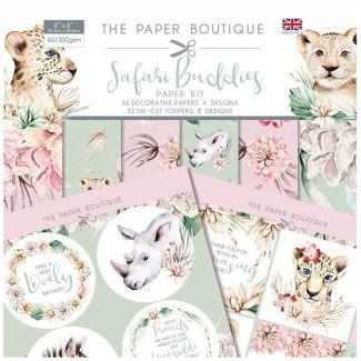 "The Paper Boutique Safari Buddies - 8"" x 8"" Paper Kit"