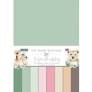 The Paper Boutique Safari Buddies - Colour Card Collection