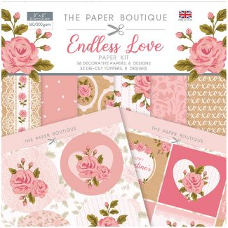 "The Paper Boutique Endless Love 8"" x 8"" Paper Kit"