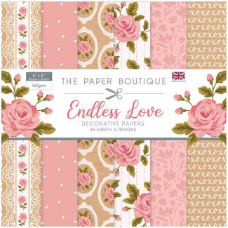 "The Paper Boutique Endless Love 8"" x 8"" Paper Pad"