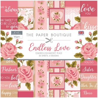 "The Paper Boutique Endless Love 8"" x 8"" Embellishment Pad"