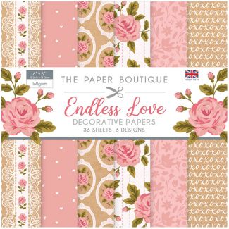 "The Paper Boutique Endless Love 6"" x 6"" Paper Pad"