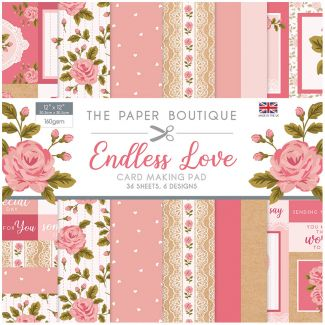 "The Paper Boutique Endless Love 12"" x 12"" Card Making Pad"