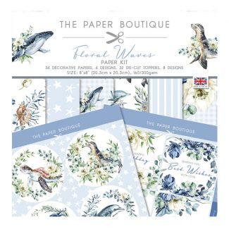 The Paper Boutique Floral Waves Paper Kit