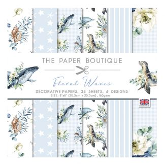 "The Paper Boutique Floral Waves 8"" x 8"" Paper Pad"
