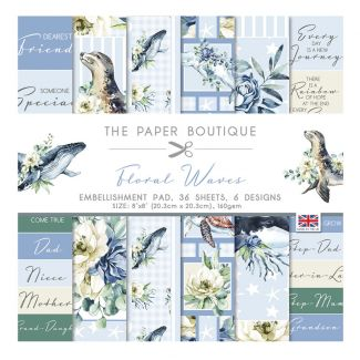 "The Paper Boutique Floral Waves 8"" x 8"" Embellishment Pad"
