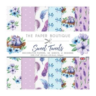 """The Paper Boutique Sweet Tweets 8"""" x 8"""" Paper Pad"""