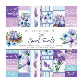 """The Paper Boutique Sweet Tweets 8"""" x 8"""" Embellishment Pad"""