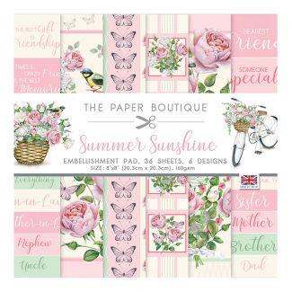 "The Paper Boutique Summer Sunshine 8"" x 8"" Embellishment Pad"