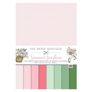 The Paper Boutique Summer Sunshine A4 Colour Card Collection