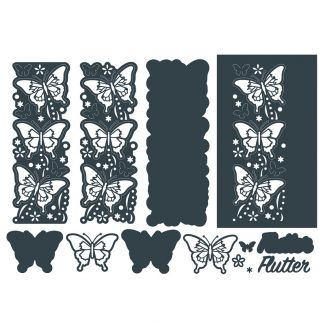 The Paper Boutique Border Die Flutter