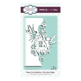 Paper Cuts Collection - Fairy Door Edger Craft Die (size 10.3cm x 16.2cm)