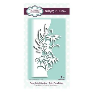 Paper Cuts Collection - Daisy Fairy Edger Craft Die (size 8.5cm x 17.4cm)