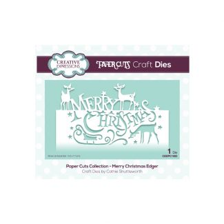 Paper Cuts Collection - Merry Christmas Edger