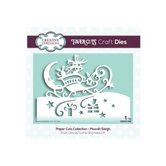 Paper Cuts Collection - Moonlit Sleigh Edger