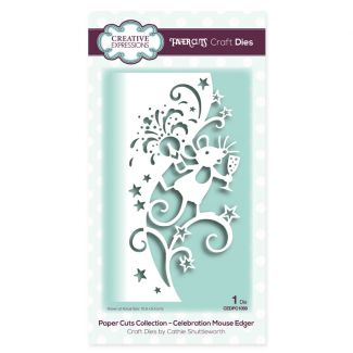 Paper Cuts Collection - Celebration Mouse Edger Craft Die