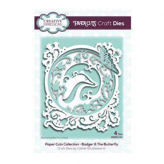 Creative Expressions Paper Cuts Badger & The Butterfly Craft Die