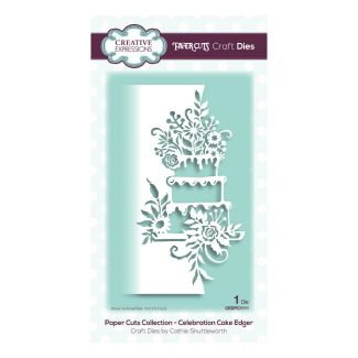 Creative Expressions Paper Cuts Celebration Cake Edger Craft Die