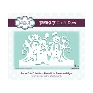 Creative Expressions Paper Cuts Edger Three Little Snowmen Craft Die (1 die size 13.9cm x 8.3cm)
