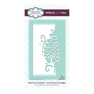 Creative Expressions Paper Cuts Edger O Christmas Tree Craft Die (1 die size 6.7cm x 16.4cm)