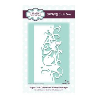 Creative Expressions Paper Cuts Edger Winter Fox Craft Die (1 die size 6cm x 15.8cm)