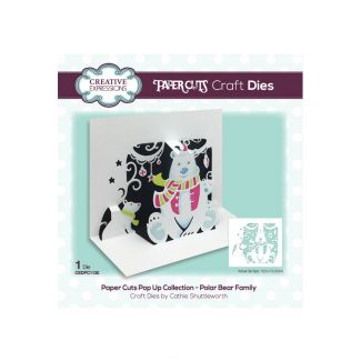 Paper Cuts Pop Up Collection - Polar Bear Family Craft Die