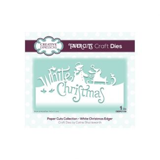 Creative Expressions Paper Cuts White Christmas Edger Craft Die