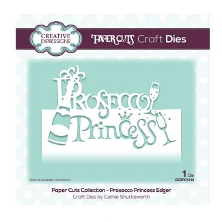 Creative Expressions Paper Cuts Edger - Prosecco Princess Craft Die