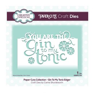 Creative Expressions Paper Cuts Edger - Gin To My Tonic Craft Die