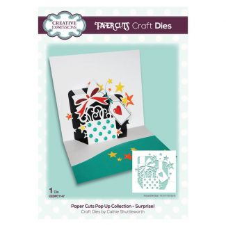 Paper Cuts Pop Up Collection - Surprise! x 1 die (die size 14.3cm x 13.6cm)