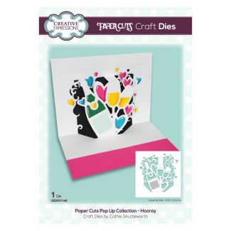 Paper Cuts Pop Up Collection - Hooray x 1 die (die size 13.6cm x 13cm)