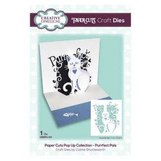 Paper Cuts Pop Up Collection - Purrfect Pals x 1 die (die size 11.5cm x 13.3cm)