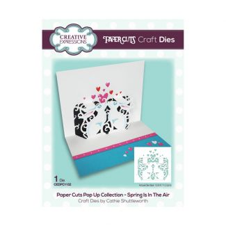 Paper Cuts Pop Up Collection - Spring Is In The Air x 1 die (die size 12.6cm x 11.5cm)