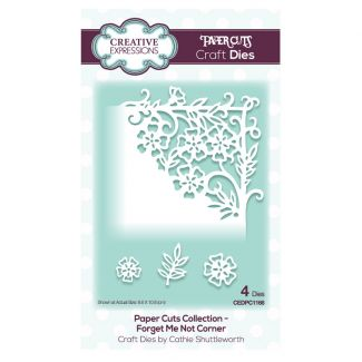 Creative Expressions Paper Cuts Corner Forget Me Not Craft Die