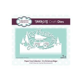 Paper Cuts Collection - It's Christmas Edger Craft Die
