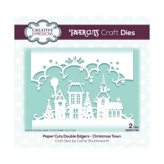 Paper Cuts Festive Double Edger Craft Dies - Christmas Town