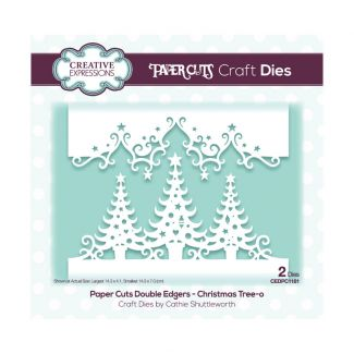Paper Cuts Festive Double Edger Craft Dies - Christmas Tree-o