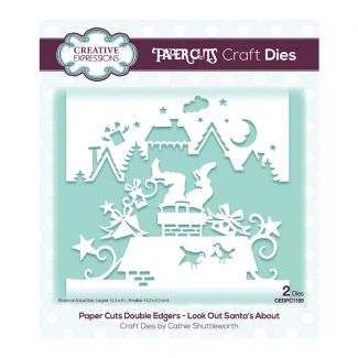 Paper Cuts Festive Double Edger Craft Dies - Look Out Santa's About