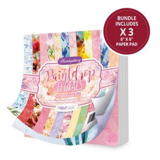 """Paintdrop Florals 6"""" x 6"""" Paper Pad"""
