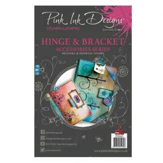 Pink Ink Designs A5 Clear Stamp - Hinge & Bracket