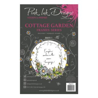 Pink Ink Designs Cottage Garden A5 Clear Stamp Set