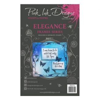 Pink Ink Designs Elegance A5 Clear Stamp Set