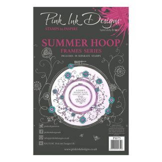 Pink Ink Designs Summer Hoop A5 Clear Stamp Set