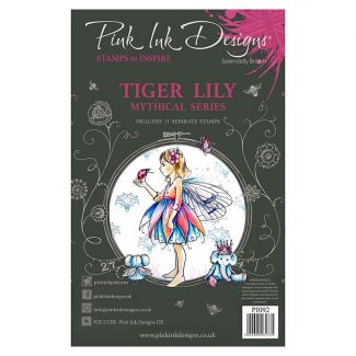 Pink Ink Designs Tiger Lily A5 Clear Stamp Set
